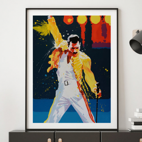 Freddy Mercury as a large wall print by Pavel van Golod
