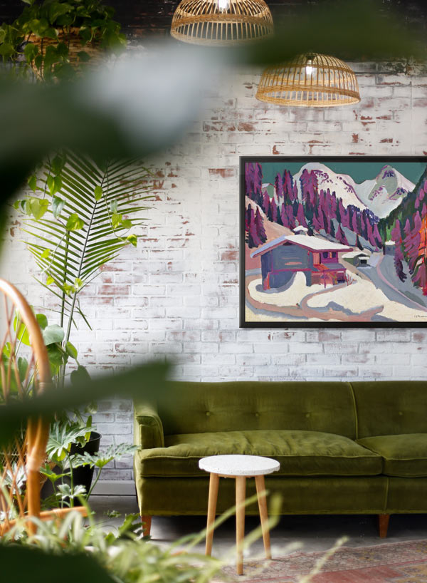 Maximalism with art and plants