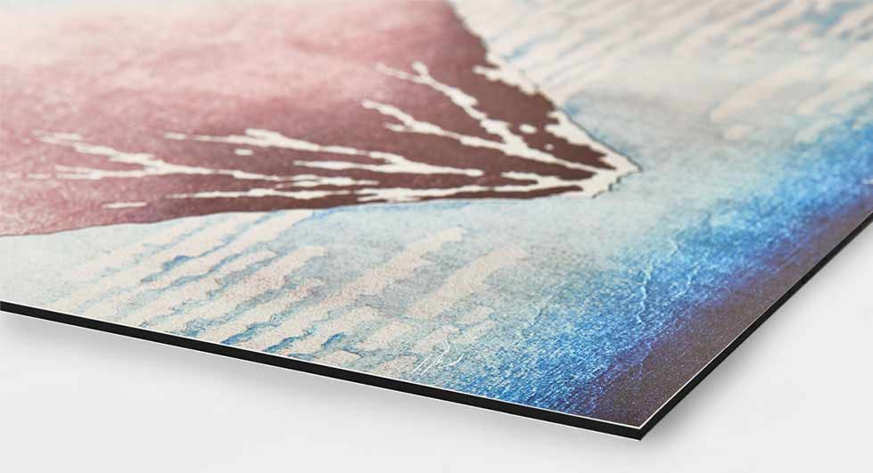 Artworks directly printed on Dibond aluminum