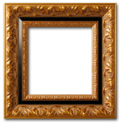 Baroque Frame in Black and Gold