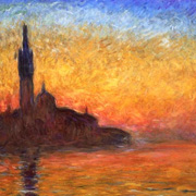Claude Monet - Venise at sunset