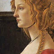 Profile of a young woman by Sandro Botticelli