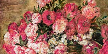 Still life with peonies by Renoir