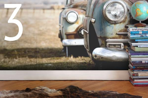 Create your own art style on aluminum, canvas or even wallpaper.
