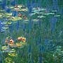 Claude Monet -  Water lilies, green reflections
