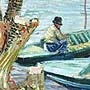 Vincent van Gogh - A fisherman in his boat