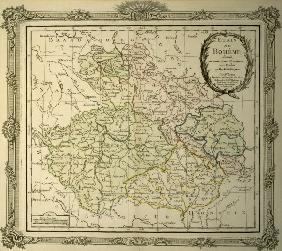 Map of Bohemia , Brion engraving