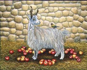 The Apple-Goat, 1995 (acrylic pn panel)
