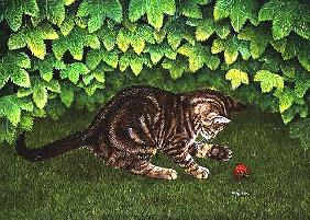 The Strawberry-Kitten, 1996 (acrylic on panel)