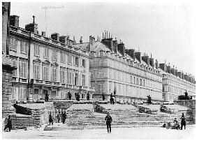 Barricade during the Commune of Paris in Rue de Rivoli