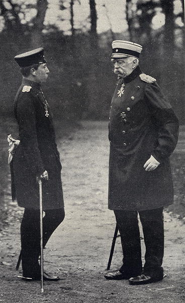 Kaiser Wilhelm II and Bismarck circa 1888