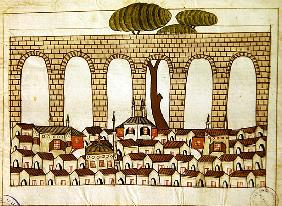 Ms. cicogna 1971, miniature from the ''Memorie Turchesche'' depicting the great aqueduct at Constant
