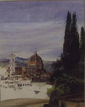 Florence from Boboli Gardens (unfinished)