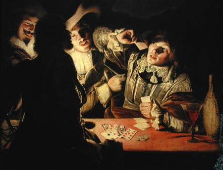 The Card Players Adam De Coster As Art Print Or Hand Painted Oil - Who painted the card players