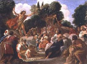 St. John the Baptist Preaching (panel)