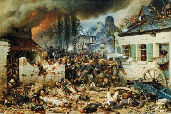 Attacking The Prussians In Plancenoit In Adolf Northern