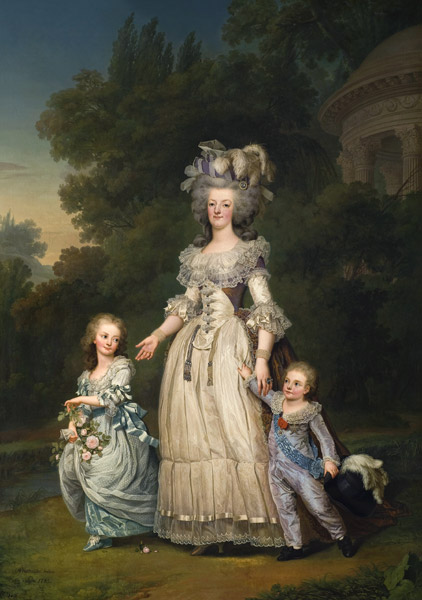 Painting Le Brun Queen France Marie-antoinette Xxl Wall Canvas Art Print