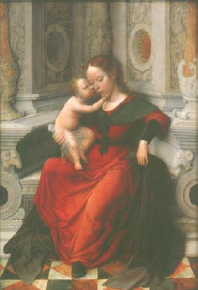 Isenbrant, Adriaen : Madonna with child in a ni...