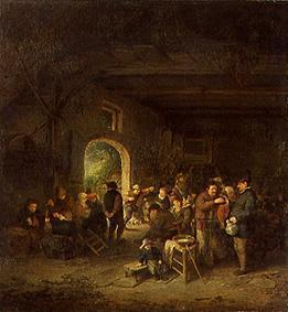 van Ostade, Adriaen Jansz : Dance in the farmhouse par...