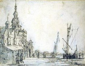 View of the Groothoofdspoort from the north-east, Dordrecht
