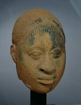 Head of a figurine, from Ifa, Nigeria