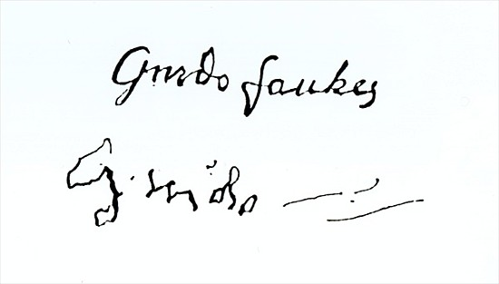 Image: (after) English School - Signature of Guy Fawkes (1570-1606)