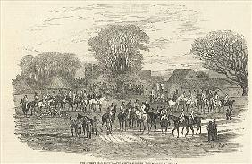 The Queen''s Stag Hounds: The Meet, Aylesbury Vale, from ''The Illustrated London News'', 5th Decemb