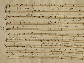 Score of the Kyrie Eleison from the ''Messa a quattro voci'', 18th century copy