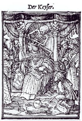 Death and the Emperor, from ''The Dance of Death'', engraving Hans Lutzelburger, c.1538
