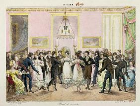 A Society Ball; engraved by Charles Etienne Pierre Motte (1785-1836) 1819