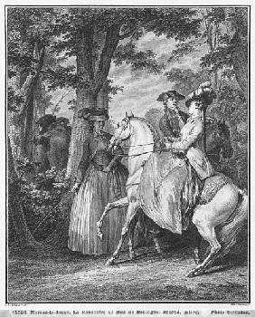 The meeting at the Bois de Boulogne; engraved by Heinrich Guttenberg (1749-1818) c.1777