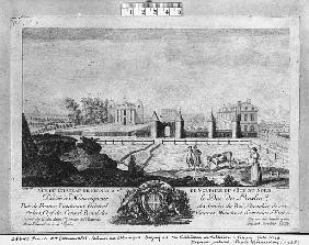Voltaire''s house in Ferney, north side; engraved by Francois, Maria, Isidore Queverdo (1748-97)