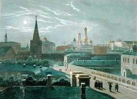 View of the Moscow Kremlin, 1840''s