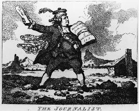 The Journalist, from ''The Picturesque Beauties of Boswell, Part the First'', etched by Thomas Rowla