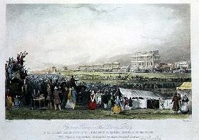 Epsom Races on Derby Day, 1841,