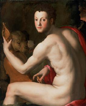 Portrait of Grand Duke of Tuscany Cosimo I de' Medici (1519-1574) as Orpheus