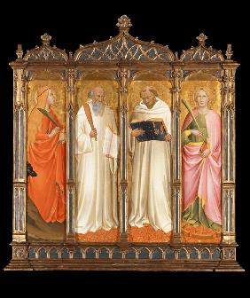 Saints Mary Magdalene, Benedict, Bernard of Clairvaux and Catherine of Alexandria