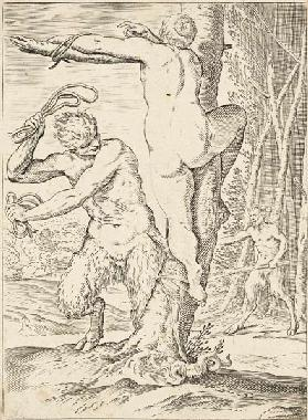 Satyr Whipping a Nymph