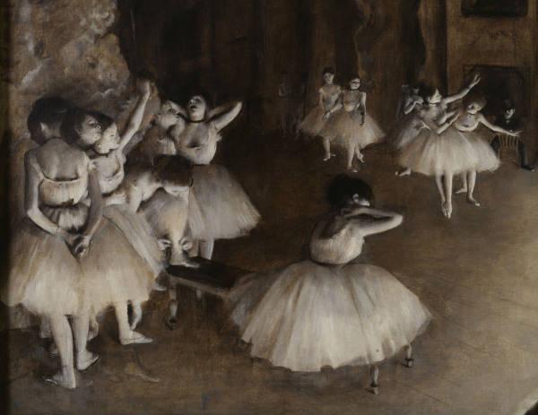 E Degas Ballet Rehearsal On Stage Edgar Degas As Art