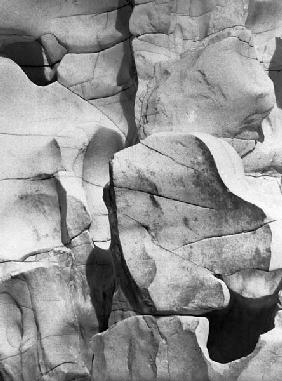 Marble rocks, Jabalpur, Madhya Pradesh (b/w photo)