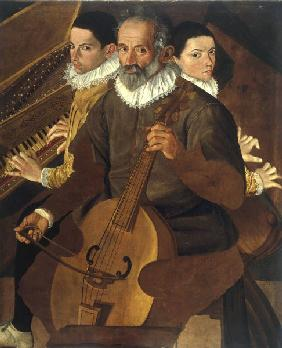Three Musicians / Paint./ C16th