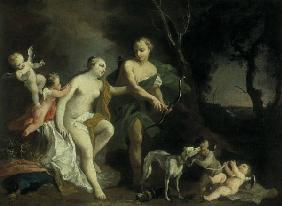 J.Amigoni / Venus and Adonis / c.1740