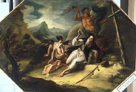 Temptation of St.Anthony / Paint./ C18th
