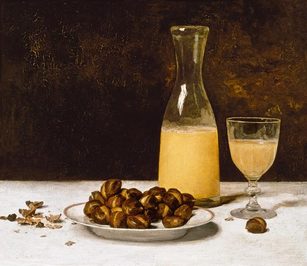 Still Life With Wine And Chestnuts Albert Anker As Art