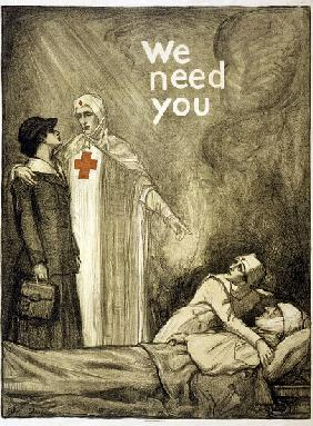 Red Cross Recruitment Poster, We Need You, pub.