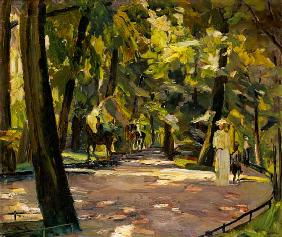 English garden in Munich 1910