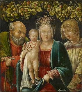 The Holy Family with Saint Agapitus