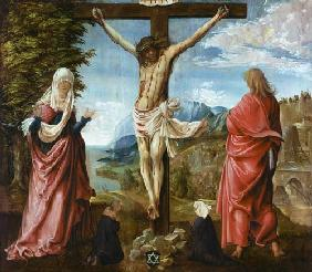 Altdorfer, Albrecht : Christ at the cross with M...