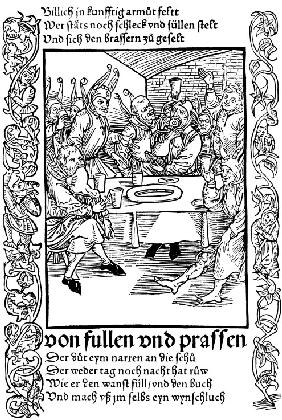 "Illustration to the book ""Ship of Fools"" by Sebastian Brant"