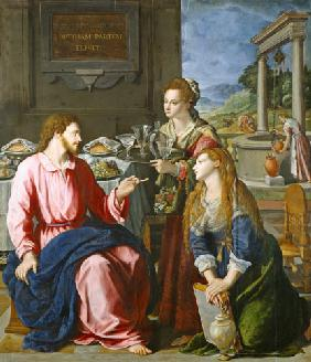 Allori, Alessandro : Christ with Maria and Mart...